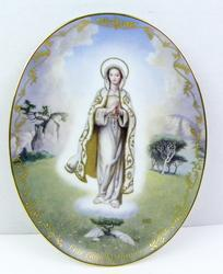 Our Lady of Fatima Handpainted Plate