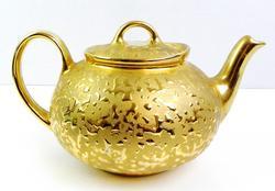 22KT Weeping Bright Gold Tea Pot
