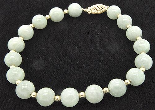 usauctionbrokers balls light jade gold green bracelet details com with