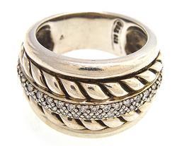 David Yurman Thouroughbred Diamond Cable Ring