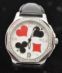 3.00 Carat Diamond Gents Poker Club Dial Watch