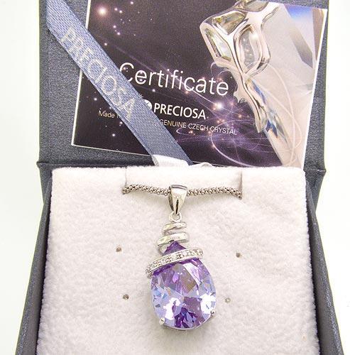 Preciosa 'Elegant' Violet Necklace