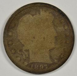 Rare Key Date 1897-S Barber Quarter