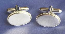 Attractive 'Kelly Waters' Signed, Silver Plated Cufflinks