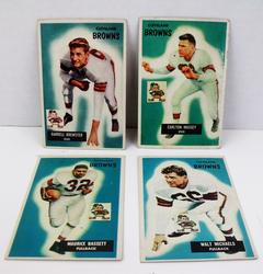 4 Cleveland Browns 1955 Football Cards