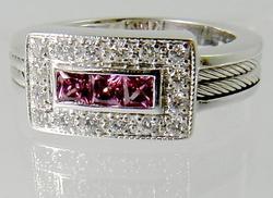 Phillipe Charriol Pink Sapphire Ring