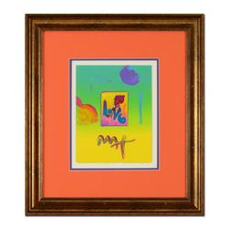 Peter Max Framed One-Of-A-Kind Acrylic Mixed Media