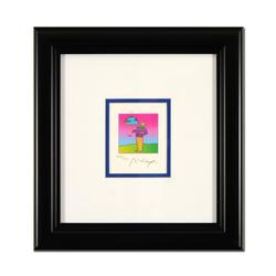 Peter Max Framed Limited Edition Lithograph,Hand Signed