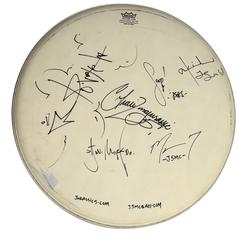 Jurassic 5 X6 Autographed Signed 18-inch Drumhead AFTAL
