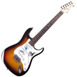 ZZ Top X3 Autographed Signed Sunburst Guitar UACC RD CO