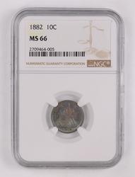 1882 Seated Liberty Dime - NGC MS66