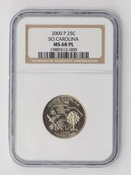 MS68PL 2000-P South Carolina State Quarter - NGC RARE