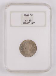 Proof 1886 Liberty Head Nickel - NGC PF65