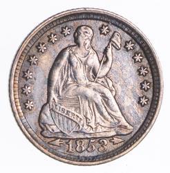 1853 Seated Liberty Half Dime - Near Uncircualted