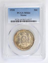 MS64 1920 Maine Commemorative Half Dollar - PCGS