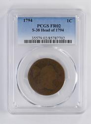 1794 Large Cent - S-38 Head - PCGS FR02 - Rare Variety