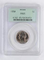 PR65 1950 Jefferson Nickel - PCGS Graded Green Label