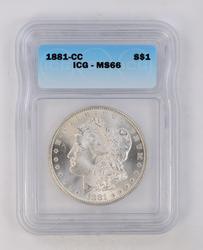 1881-CC Morgan Silver Dollar - ICG MS66