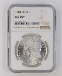 MS65+ 1884-CC Morgan Silver Dollar - NGC Graded