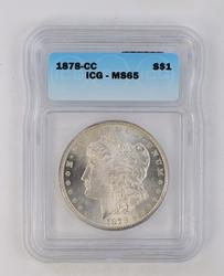 MS65 1878-CC Morgan Silver Dollar - ICG Graded