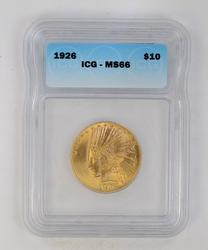 MS66 1926 $10 Indian Gold Eagle - ICG