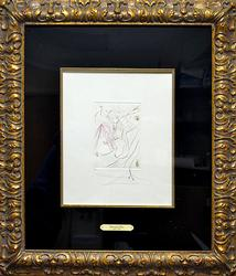 Rare Signed Dali Etching Circa 1972