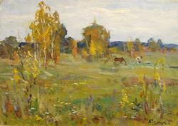 The Meadow Original Oil Meadow by Mikhail Borimchuk