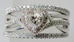 Lovely Heart Shaped Diamond Wedding Set