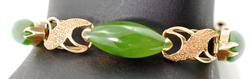 Vintage Jade and Gold Bracelet