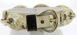 Heavy Sterling Silver Belt Buckle Link Bracelet
