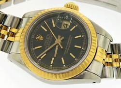 Ladies Vintage Rolex Datejust 18KT & Stainless