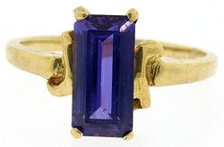 Gorgeous Lab Created Amethyst Cocktail Ring
