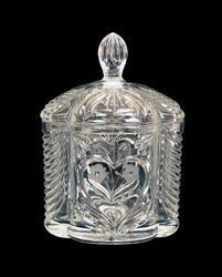 Beatiful Clear Crystal Lidded Buiscuit / Cookie Jar