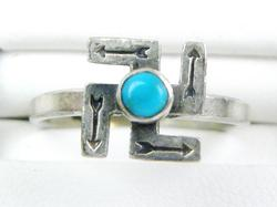 Vintage Navajo Sterling Ring with Turquoise