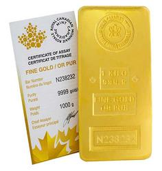 1 Kilo Fine Gold Bar, Royal Canadian Mint
