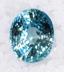 Blue Zircon Large Oval - 21.23 cts.