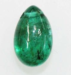 Natural Deep Green Emerald Drop - 3.80 cts.