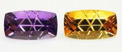 Amethyst & Citrine Fantasy-cut Pair - 17.84 cts.