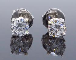 Always Needed 1 CTW Round Brilliant Cut Diamond Studs