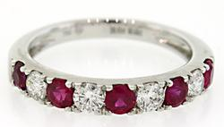 Chic Ruby & Diamond Band in 18K