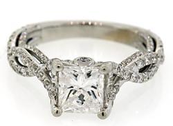 2.01 CTW Diamond Ring with Diamond Shanks in 18K