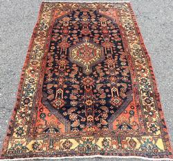 Breathtaking 1950s Handmade Fine Vintage Persian Mission Rug
