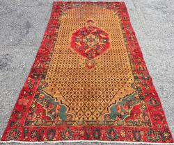 Handsome Mid-20th C. Authentic Handmade Vintage Persian Senneh