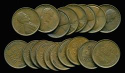 Great lot of 18 Brown Unc 1909 VDB Lincoln Cents