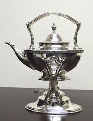 W.W. Wattles & Sons sterling silver tea kettle