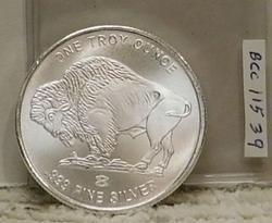 1 oz Silver Round, Unc, matte finish - Buffalo / Indian