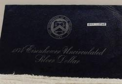 1974 Silver (40%) Uncirculated Ike Dollar, Blue pack