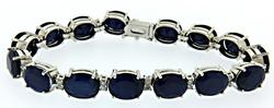 Absolutely Gorgeous 51+Carat Sapphire Bracelet
