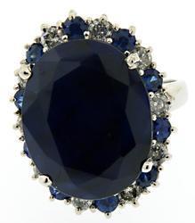 14kt Gold, Sapphire, & Diamond Ring