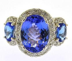 6+Ctw Tanzanite & Diamond Ring